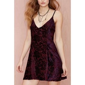 Nasty Gal Afterparty velvet floral dress
